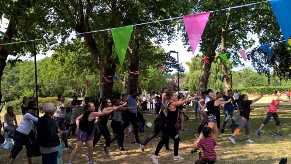 Chestnuts Park Fest Zumba activity